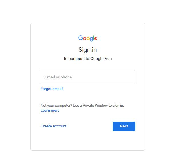 Google Ads Login